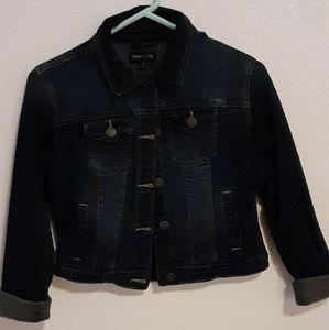 Dark wash jean jacket